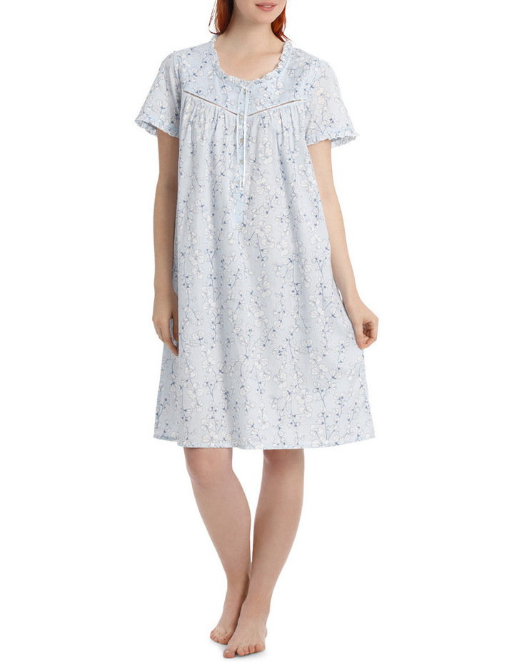 'Pansy' Short Sleeve Woven Nightie SK217MY image 1