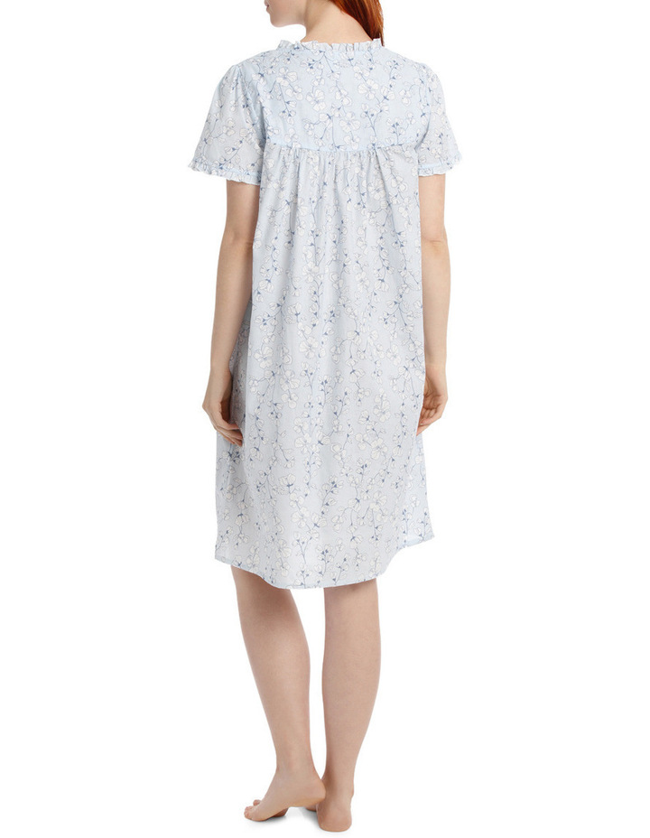 'Pansy' Short Sleeve Woven Nightie SK217MY image 2