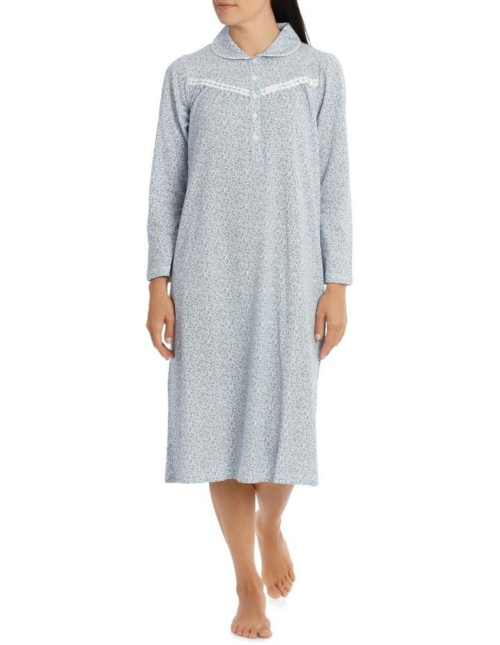 'Printed Cotton Jersey' Dawn Midlength Nightie 7LP11D image 1