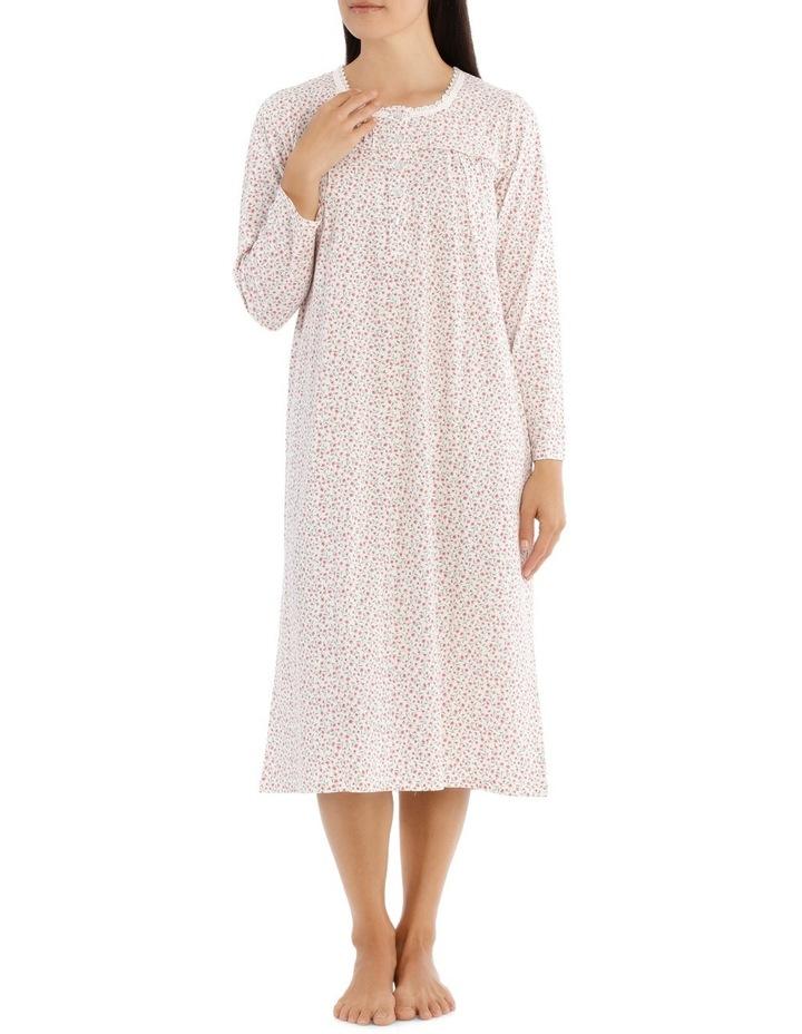 'Printed Cotton Jersey' Nina Midlength Nightie 7LP23N image 1