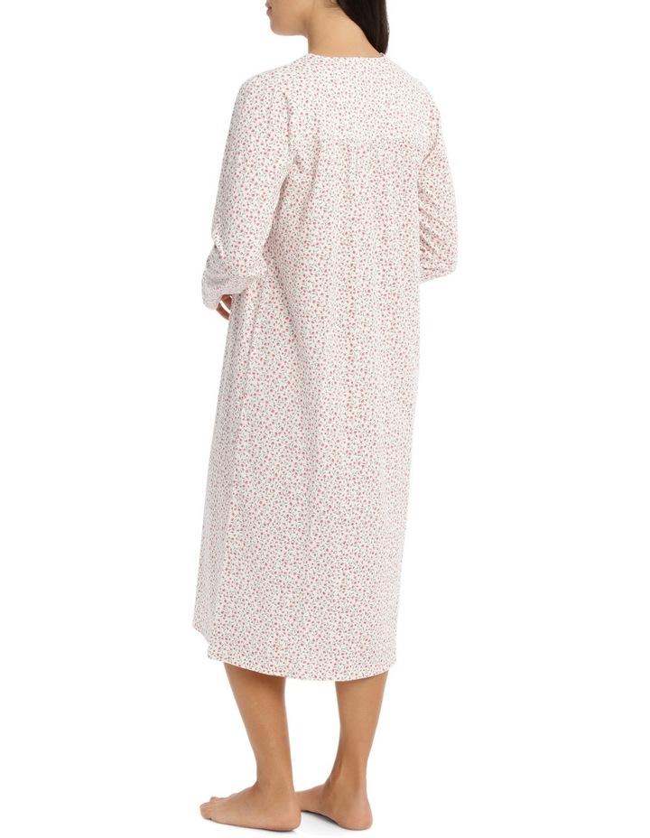 'Printed Cotton Jersey' Nina Midlength Nightie 7LP23N image 2
