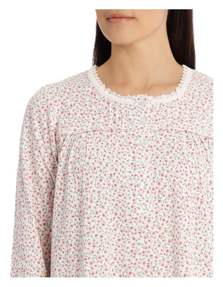 'Printed Cotton Jersey' Nina Midlength Nightie 7LP23N image 3