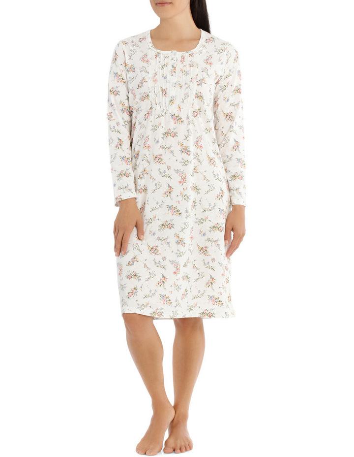'Printed Cotton Jersey' Posy Short Nightie 7LP27P image 1