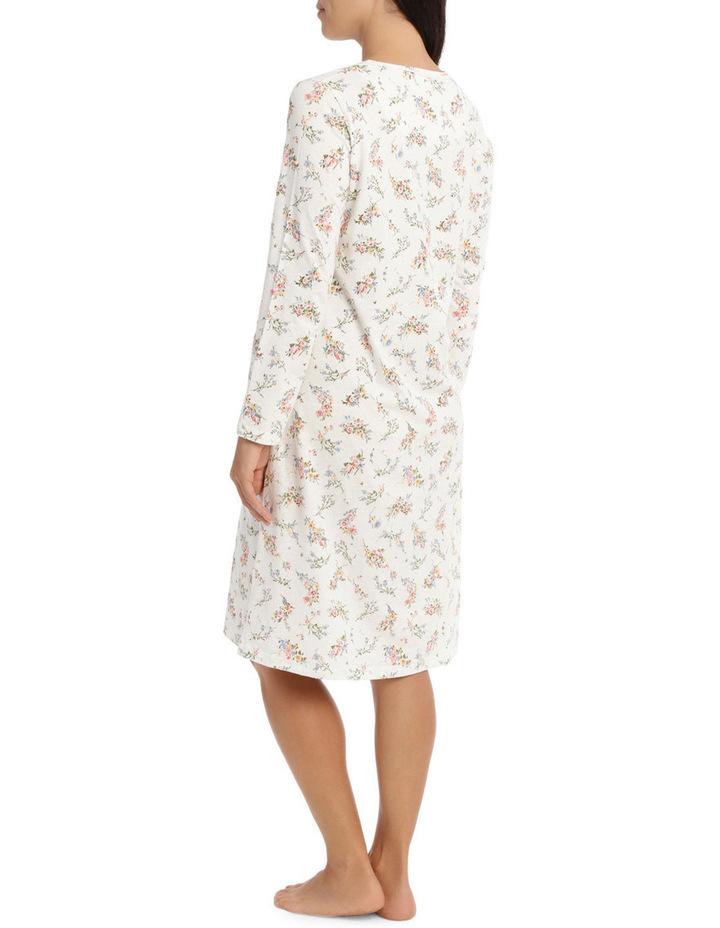 'Printed Cotton Jersey' Posy Short Nightie 7LP27P image 2