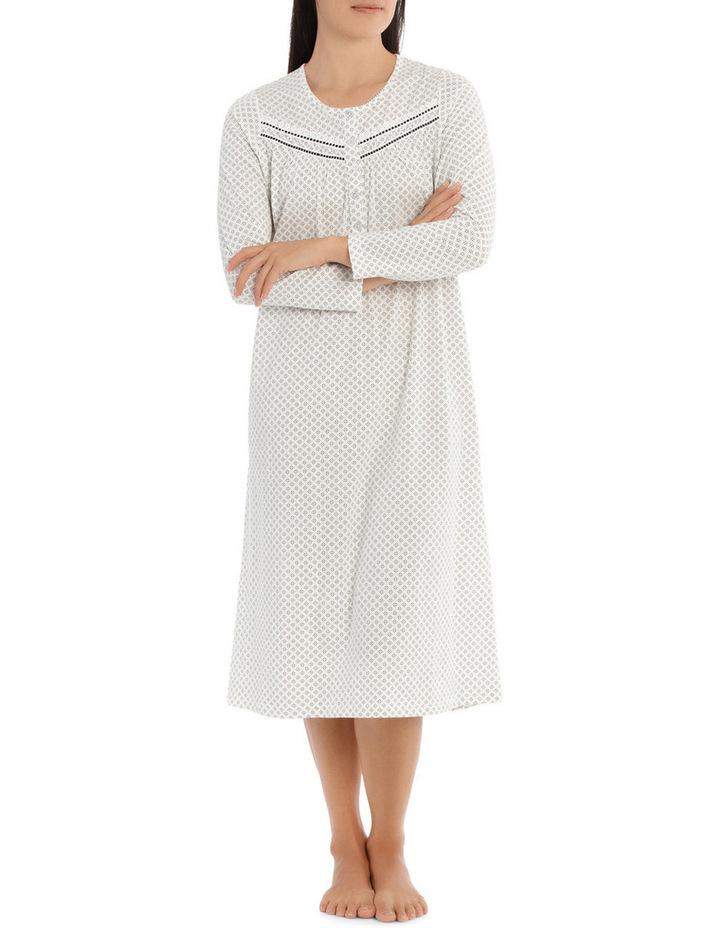 'Printed Cotton Jersey' Heather Midlength Nightie 7LP70H image 1