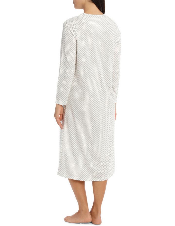 'Printed Cotton Jersey' Heather Midlength Nightie 7LP70H image 2
