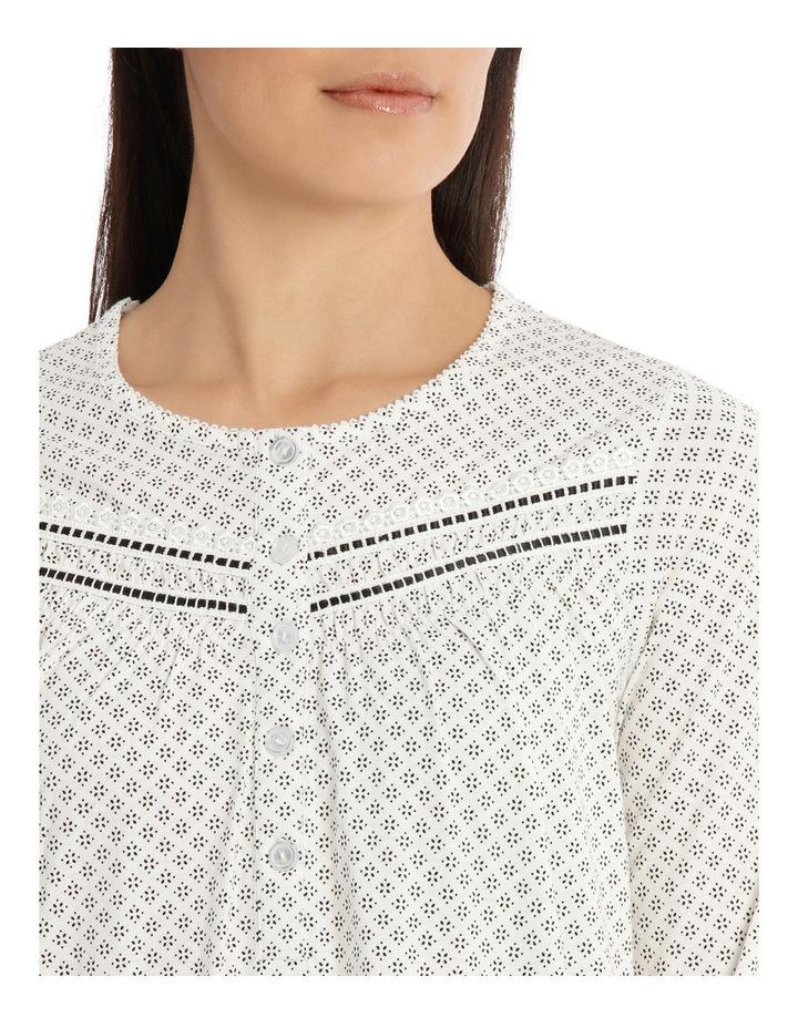 'Printed Cotton Jersey' Heather Midlength Nightie 7LP70H image 3