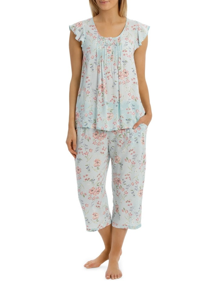 'Print Woven' Blair Cap Sleeve Capri Pyjama 6AF17B image 1
