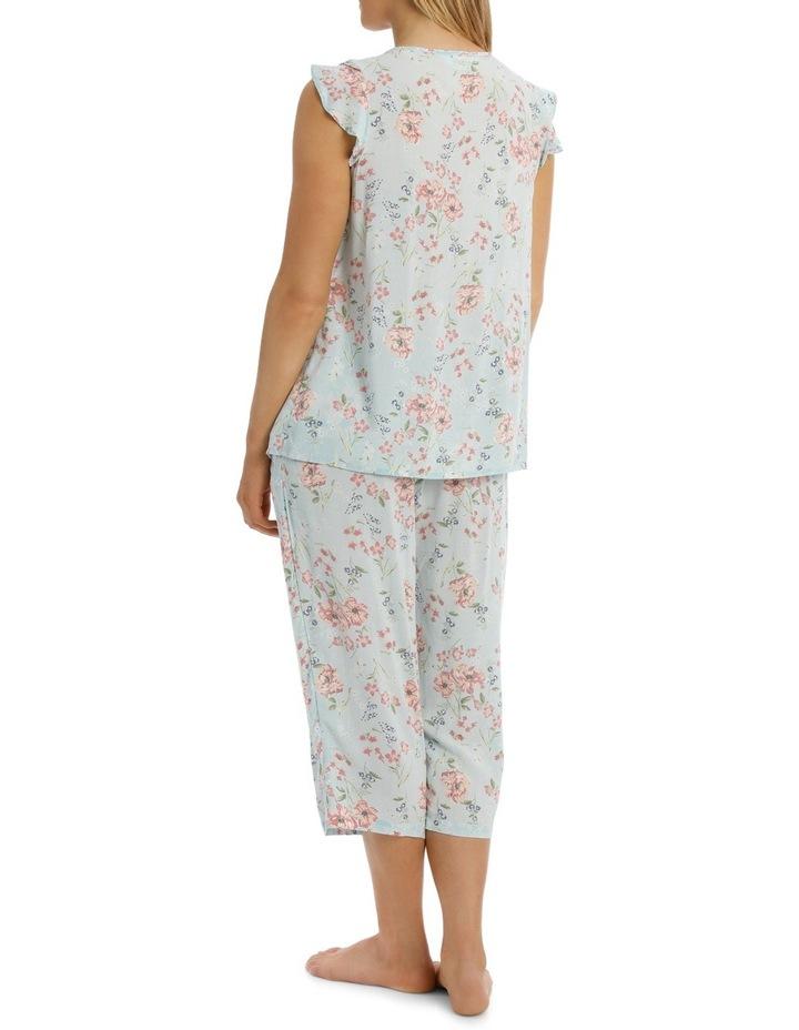 'Print Woven' Blair Cap Sleeve Capri Pyjama 6AF17B image 2