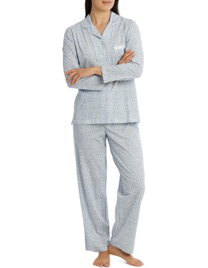 'Printed Cotton Jersey' Dawn Long Pyjama 7LP13D image 1