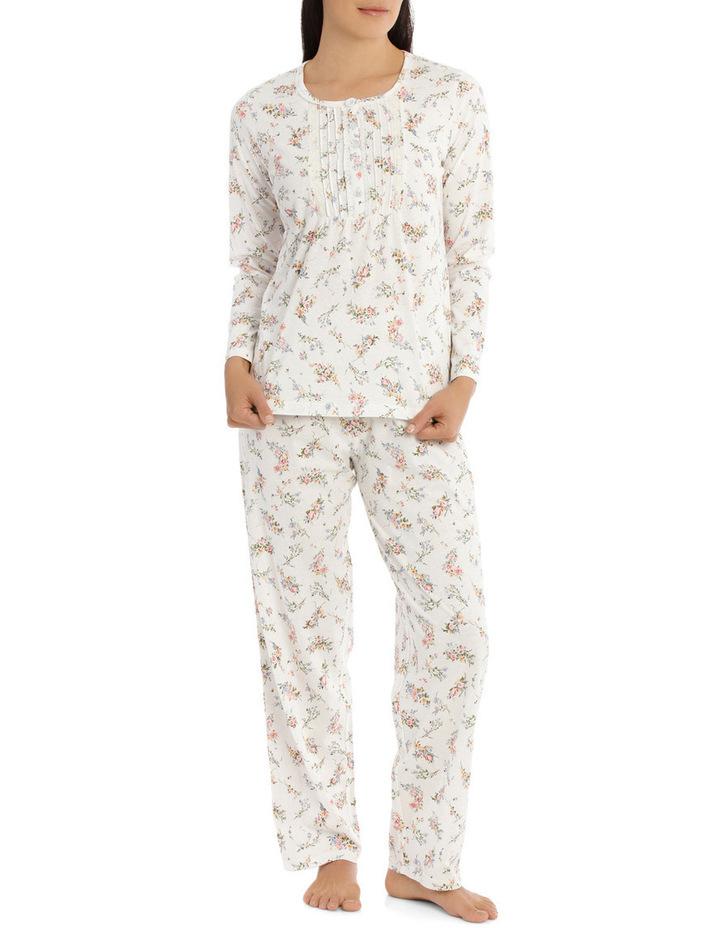 'Printed Cotton Jersey' Posy Long Pyjama 7LP28P image 1
