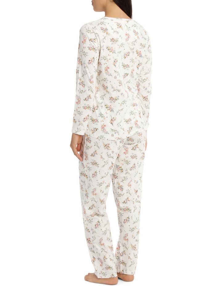 'Printed Cotton Jersey' Posy Long Pyjama 7LP28P image 2