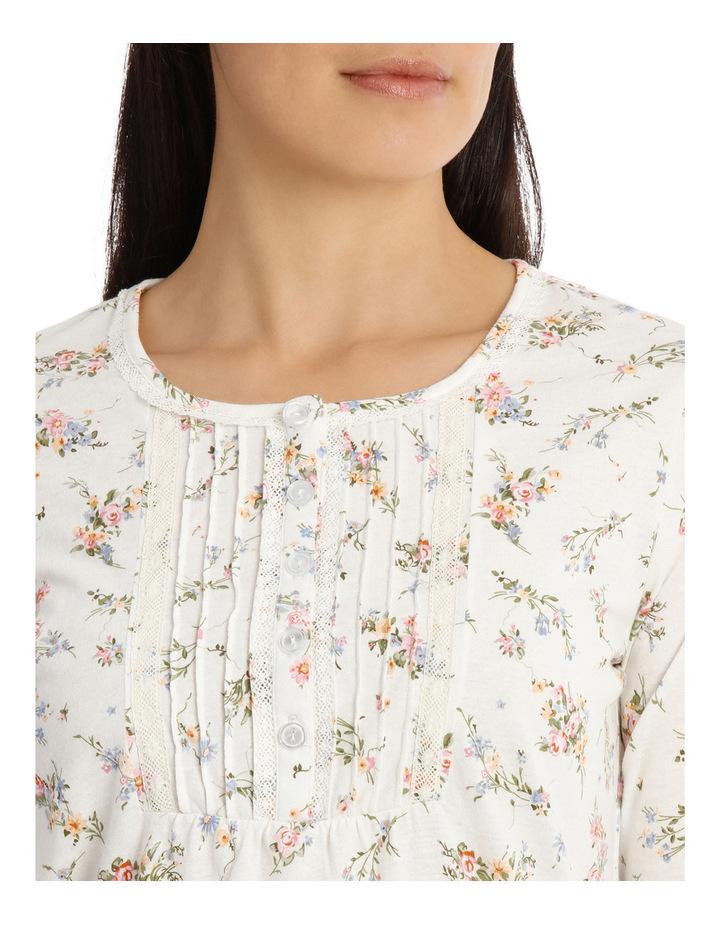 'Printed Cotton Jersey' Posy Long Pyjama 7LP28P image 3