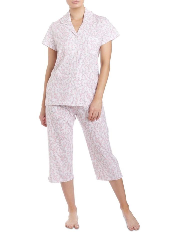 'Neve' Short Sleeve Capri Pyjama 2LP29N image 1