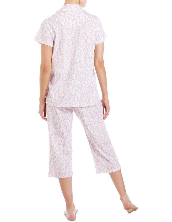 'Neve' Short Sleeve Capri Pyjama 2LP29N image 2
