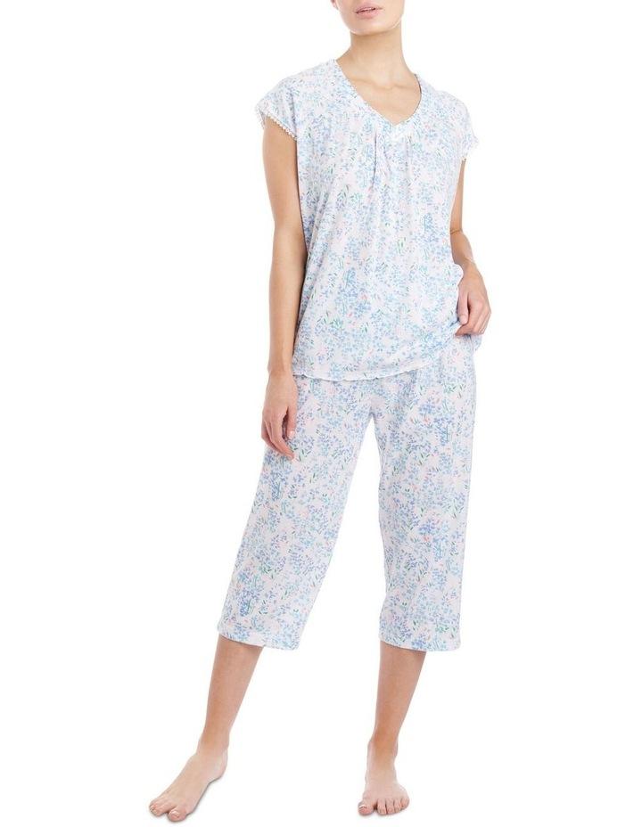 'Becky' Cap Sleeve Capri Pyjama 2ZE24B image 1