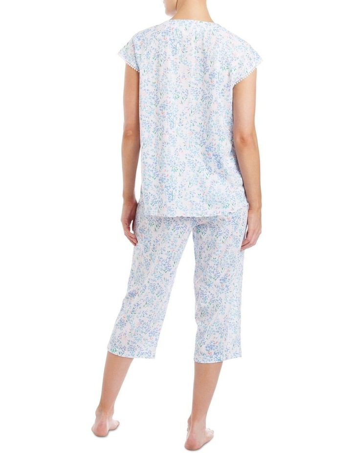 'Becky' Cap Sleeve Capri Pyjama 2ZE24B image 2