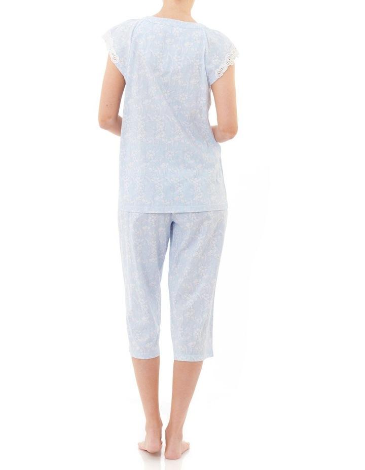 Harmony' Cap Sleeve Capri Pyjama 4LP03H image 2