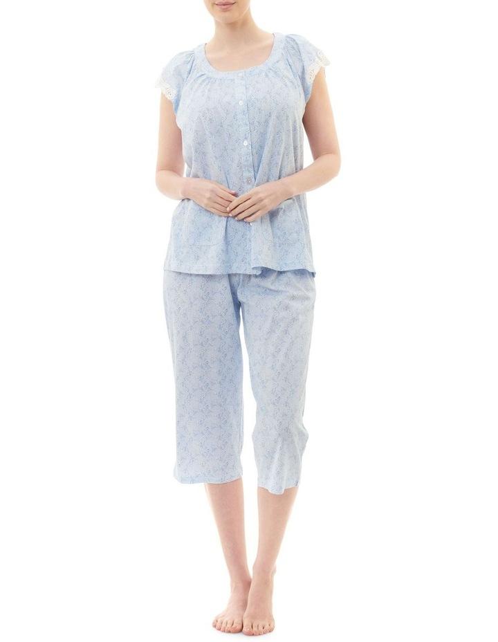Eden Cap Sleeve Capri Pyjama image 1
