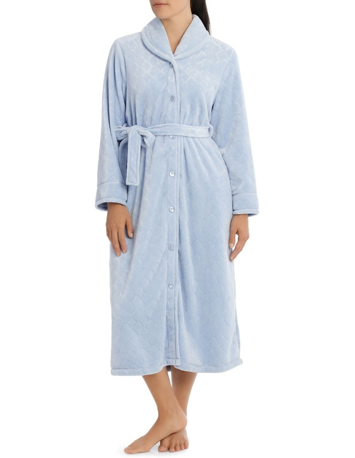 'Shiny Mosaic Luxury Polar' Midlength Button Up Gown 7GC77 image 1