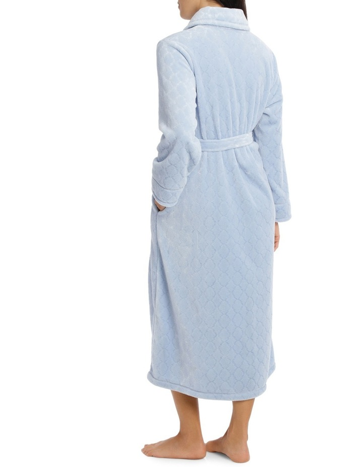 'Shiny Mosaic Luxury Polar' Midlength Button Up Gown 7GC77 image 2
