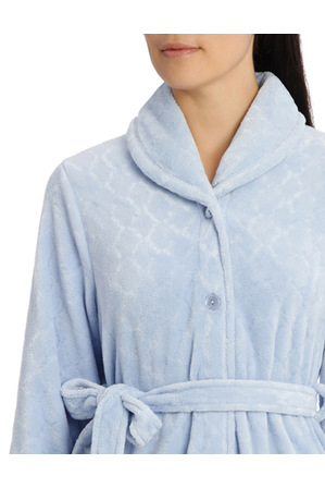 Givoni - 'Shiny Mosaic Luxury Polar' Midlength Button Up Gown 7GC77