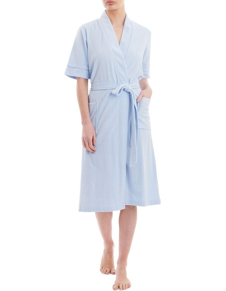 Jacquard Knit Short Robe 2TY75 image 1