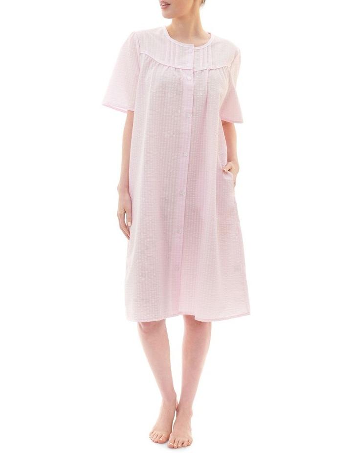 Check Short Brunchcoat Robe Pink image 1