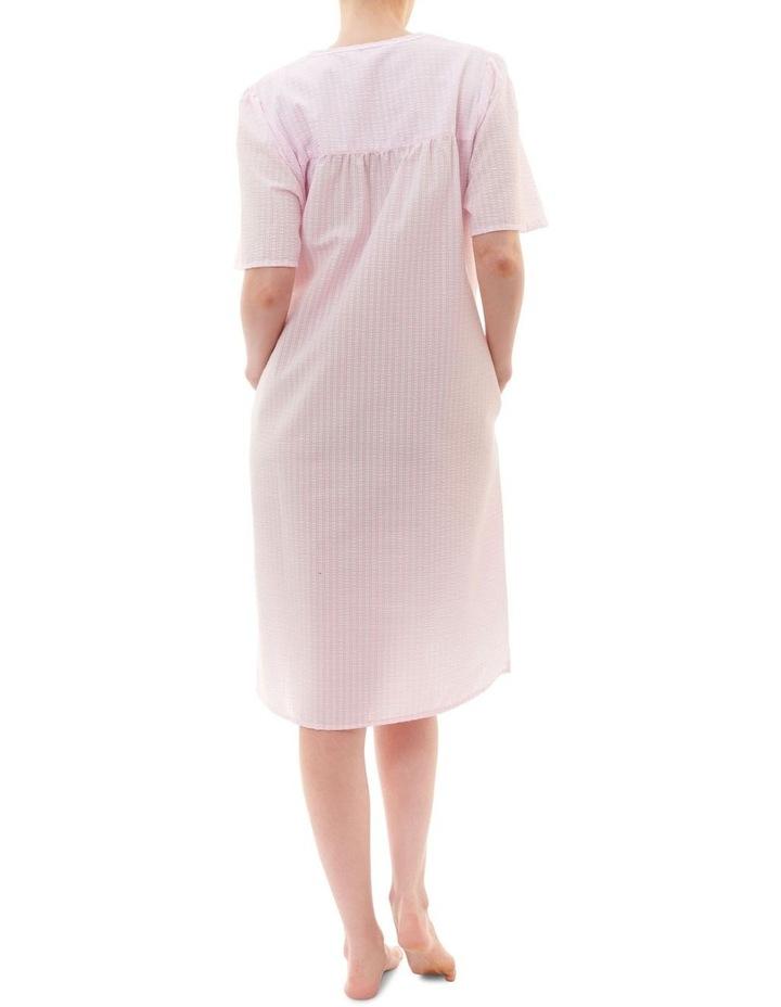 Check Short Brunchcoat Robe Pink image 2
