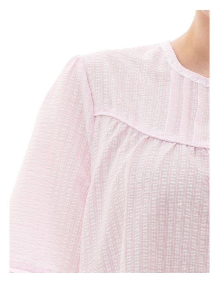 Check Short Brunchcoat Robe Pink image 3