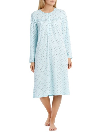 7fa08c4187 Harper   GraceFloating Lilies Short Long Sleeve Nightie. Harper   Grace  Floating Lilies Short Long Sleeve Nightie