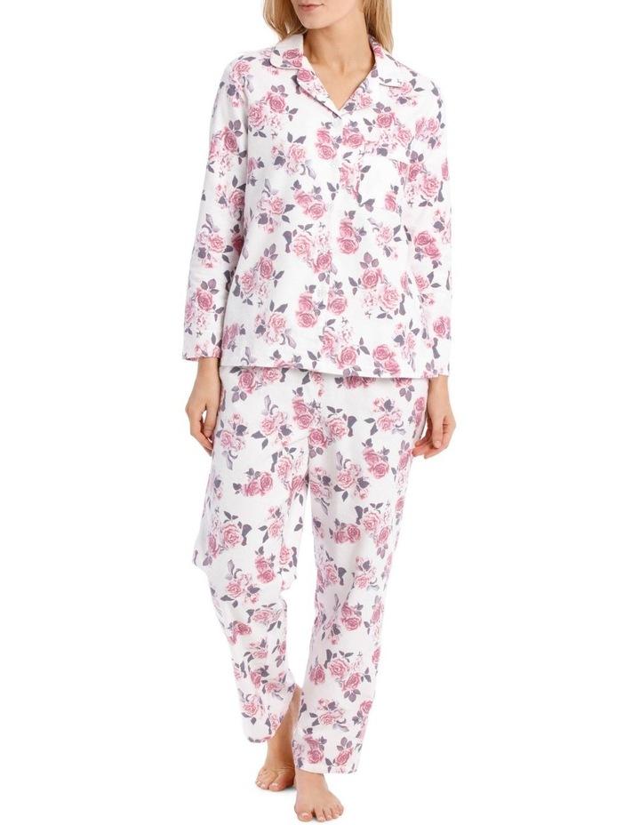 Rose Garden Flannel Long PJ Set image 1