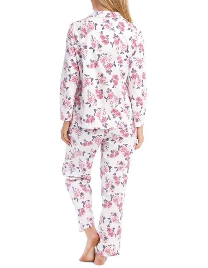 Rose Garden Flannel Long PJ Set image 2