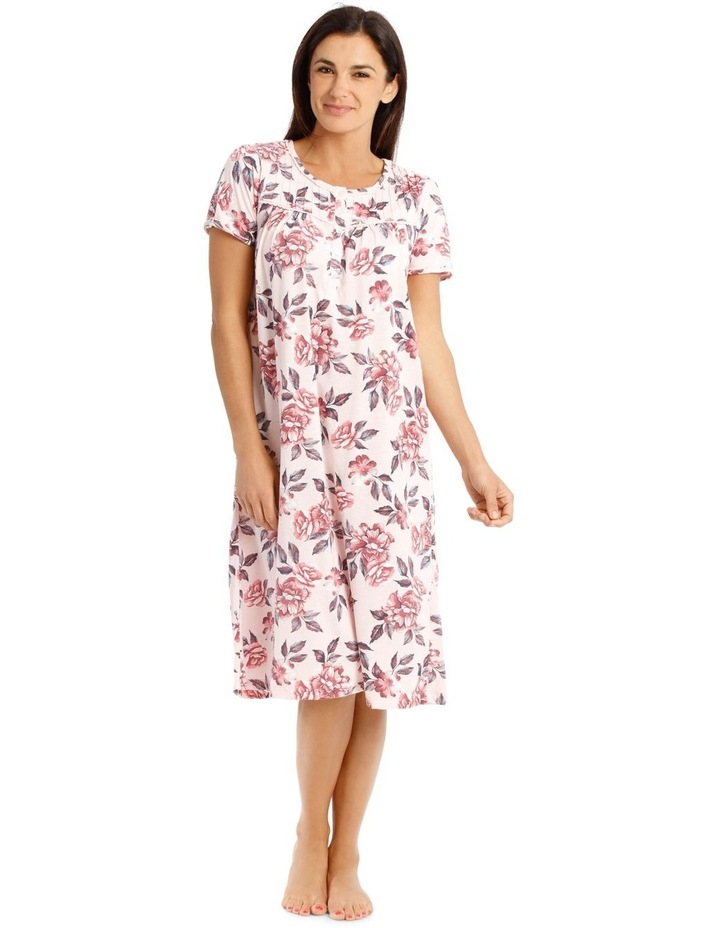 Knit Mid-length Short Sleeve Nightie image 1