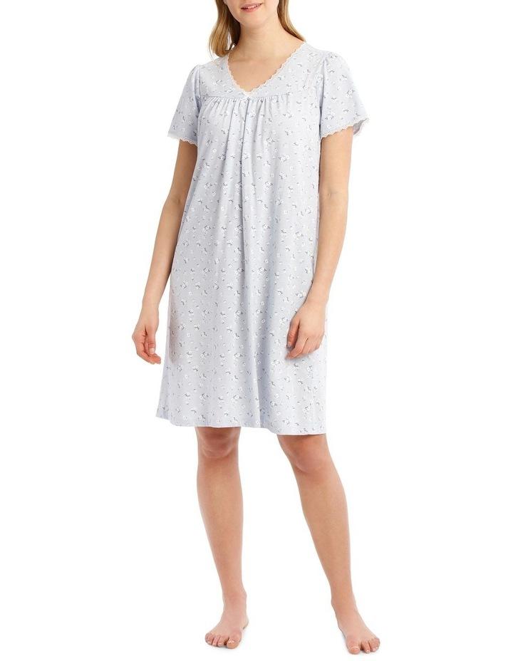 Knit Short Sleeve Nightie image 1