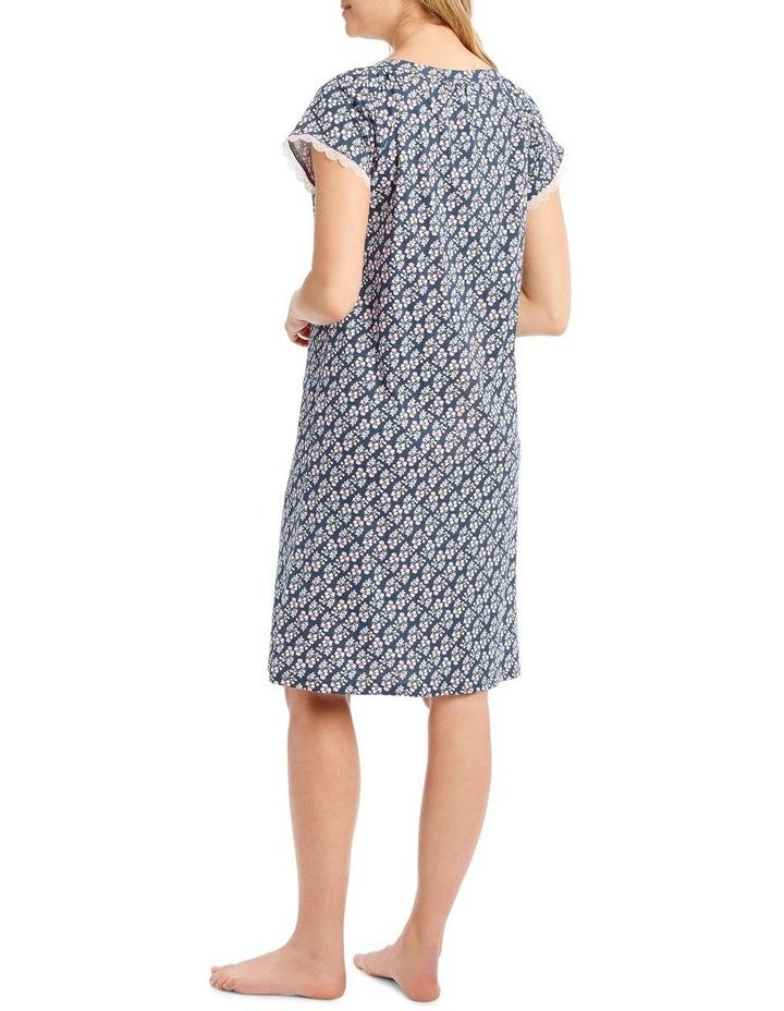 Knit Mid-length Short Sleeve Nightie image 2