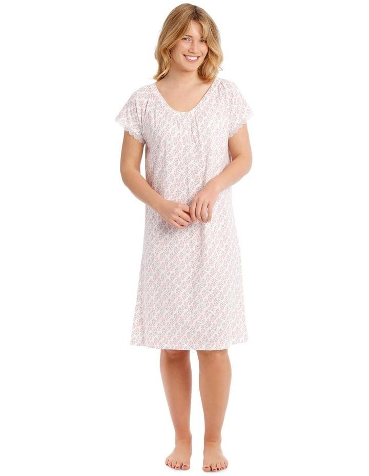 Knit Mid-length Short Sleeve Nightie image 1