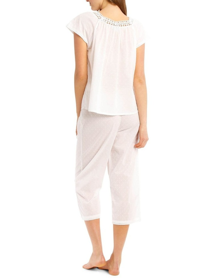 Walking Around Woven Short Sleeve Top with 3/4 Pant PJ Set image 2