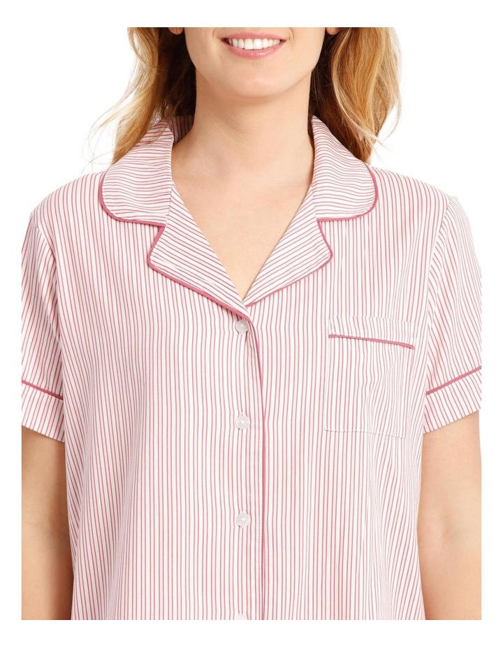 Covent Garden Woven Short Sleeve Top with 3/4 Pant PJ Set image 3