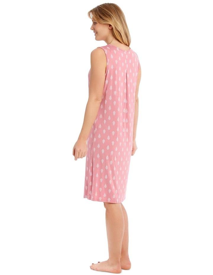 Knitted Sleeveless Nightie - Rose Tile image 2