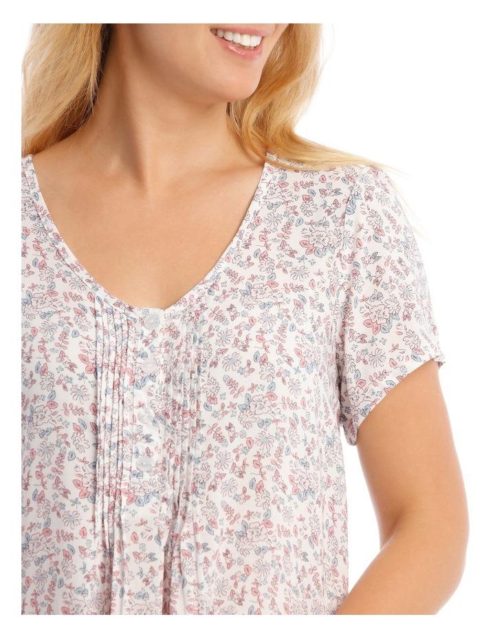Woven Mid-Length Short Sleeve Nightie image 3