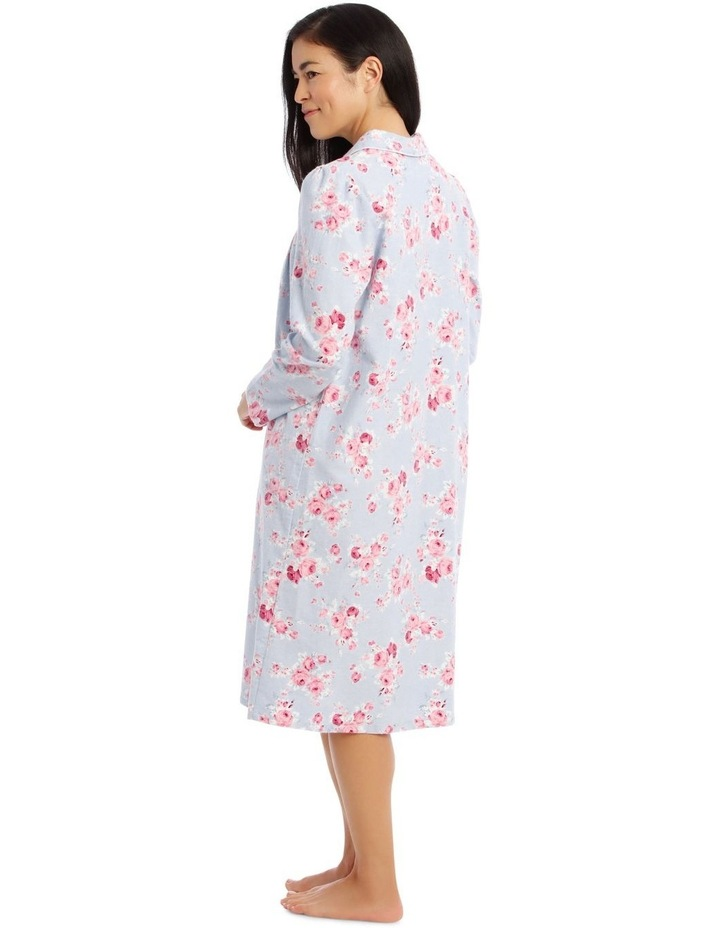 Hampshire Knit Mid-Length Long Sleeve Flannel Nightie image 3
