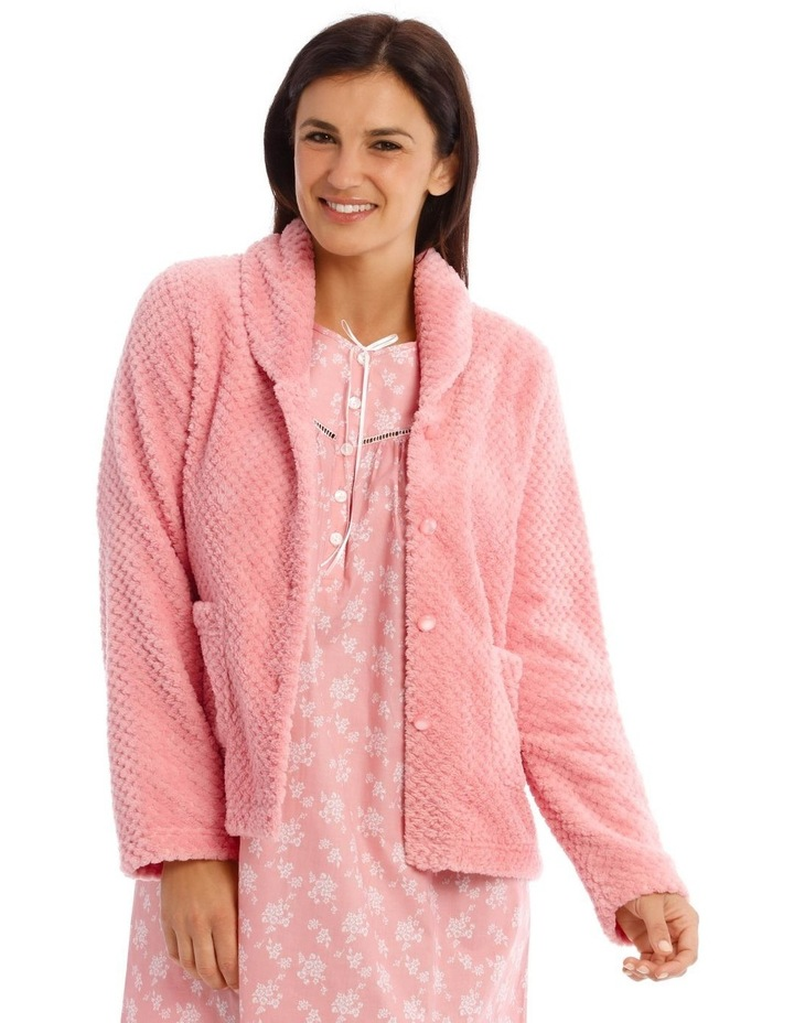 Abbey Garden Fleece Long Sleeve Bed Jacket image 1