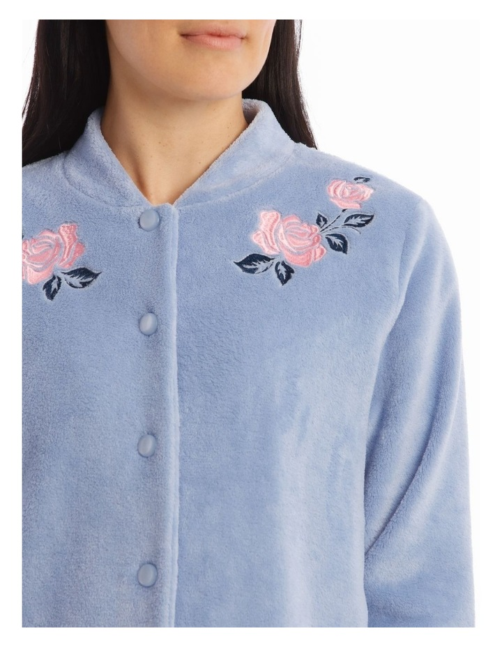 Downton Manor Woven Coral Fleece Long-Sleeve Bed Jacket image 2