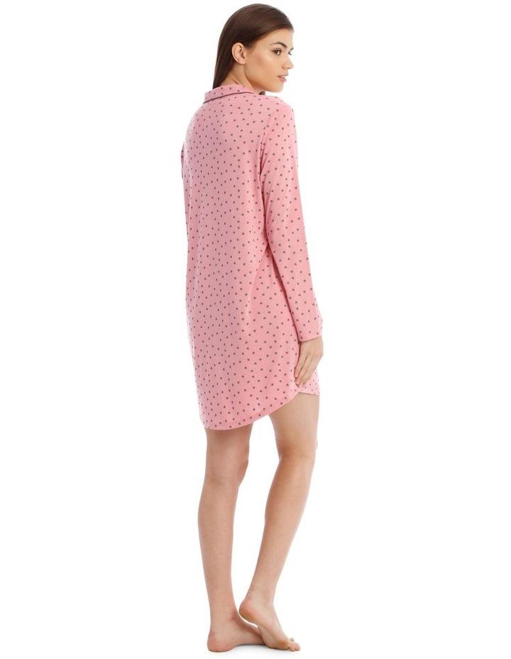 Sleeping Hearts Knit Nightshirt in Pink image 2
