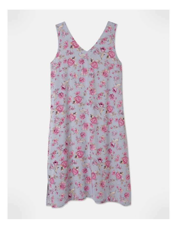 Woven V-Neck Sleeveless Nightie Grey Floral image 1
