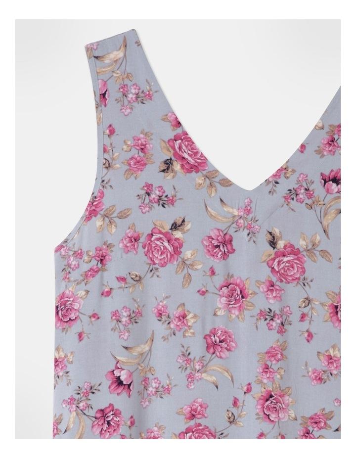 Woven V-Neck Sleeveless Nightie Grey Floral image 2