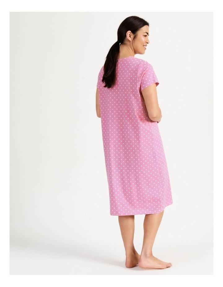 Timeless V Neck Mid-Length Short Sleeve Nightie Pink image 2