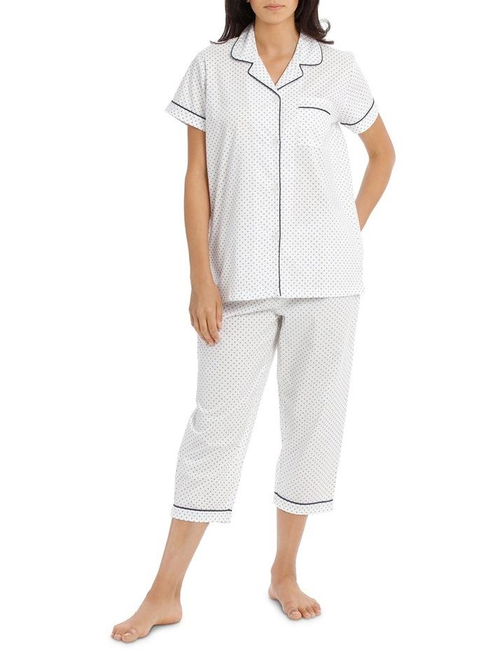 Soho Basics Short Sleeve PJ 3/4 Pant Set SSOW18030 image 1