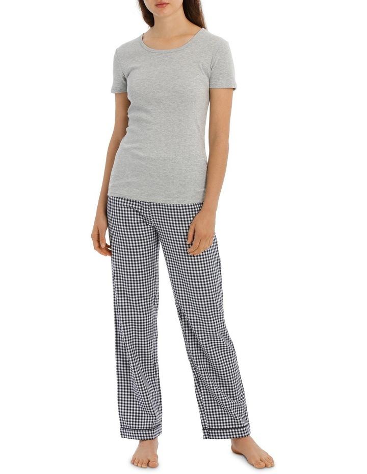 Soho Basics Short Sleeve Knit Tee & Long PJ Pant Set SSOW18035 image 1